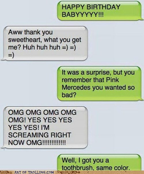 birthday pink sms toothbrush - 6637866240