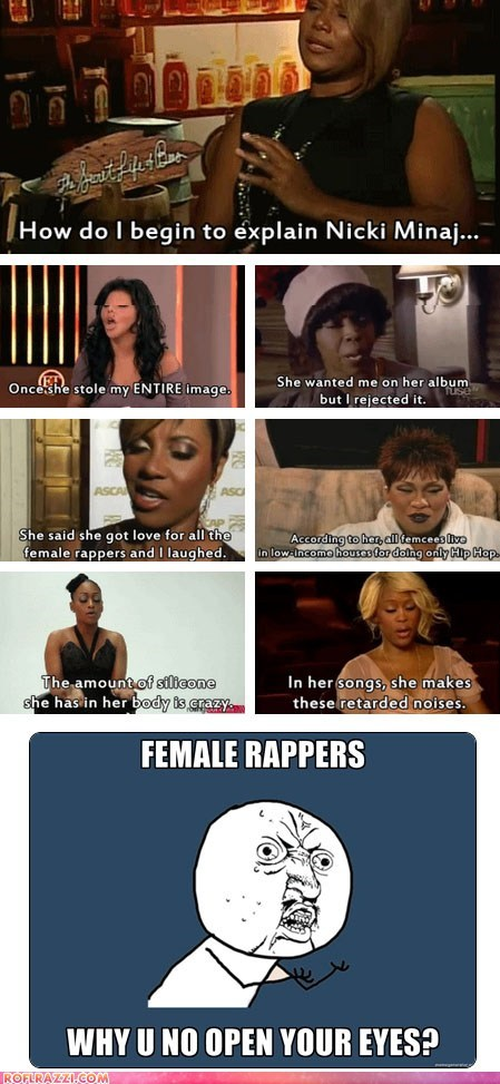celeb funny lil kim missy elliott Music nicki minaj queen latifah rap - 6637872384