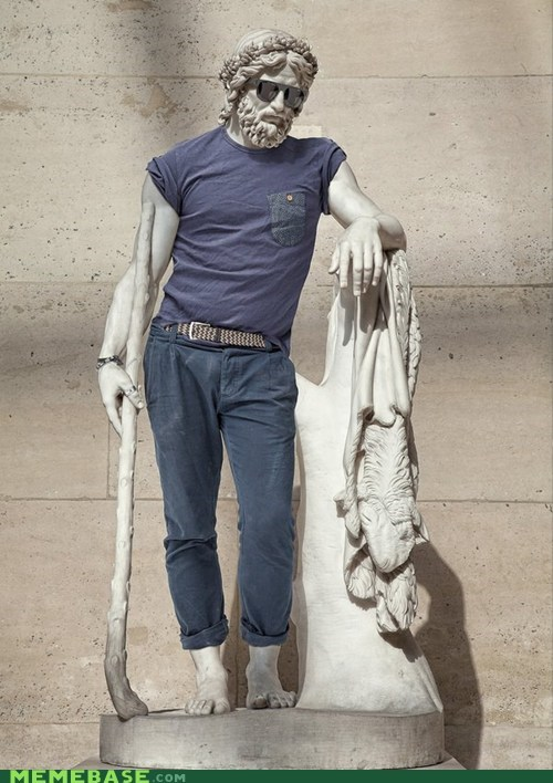 too cool,statue,clothes,shades