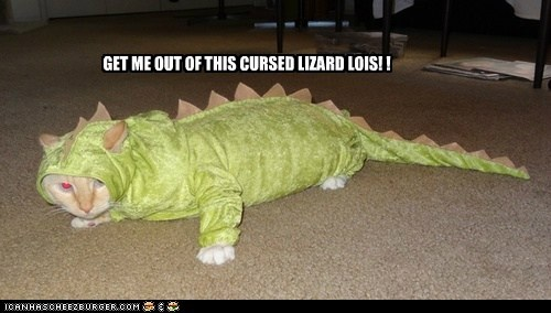 GET ME OUT OF THIS CURSED LIZARD LOIS! !