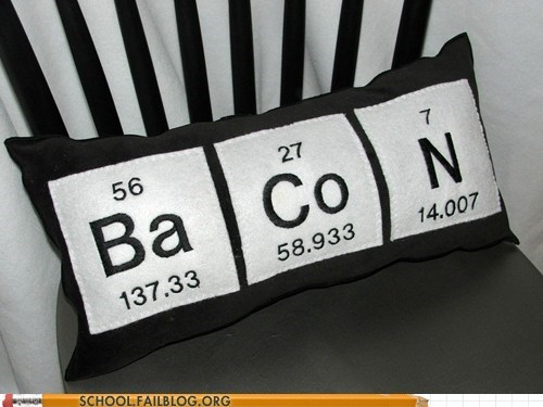 bacon Chemistry Pillow swag - 6638669312
