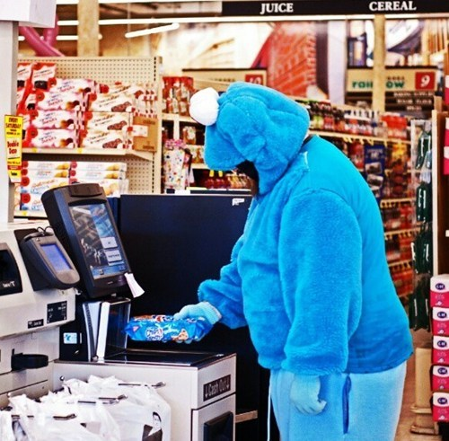 Walmart,cookies,self checkout,Cookie Monster