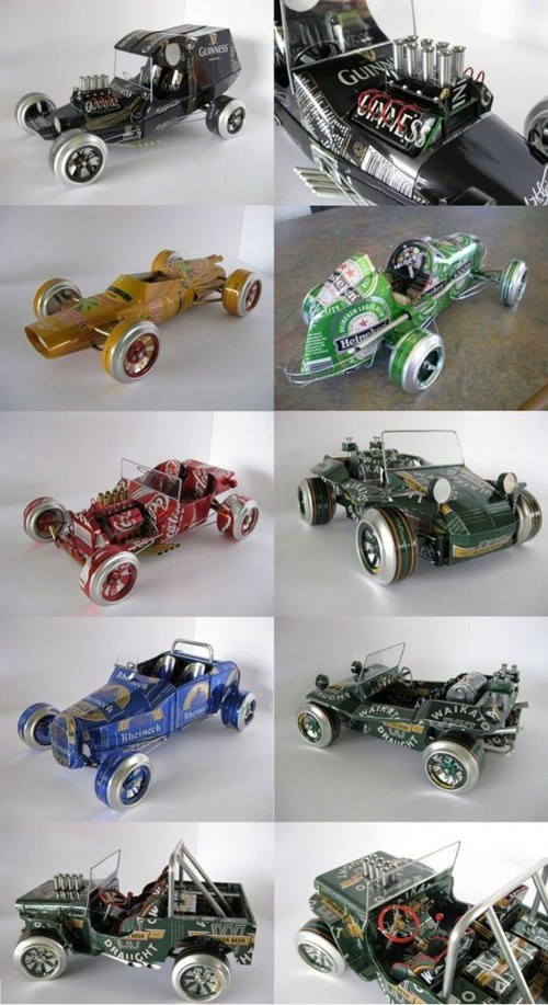 Heineken,coca cola,coke,coke can,beer can,beer can cars,model cars,guinness