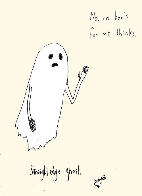 ghost halloween illustration straightedge ghost