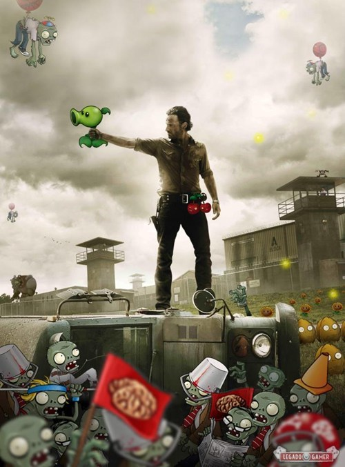 crossover,plants vs zombies,The Walking Dead,categoryimage,categoryvoting-page