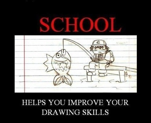 school,magikarp,drawing