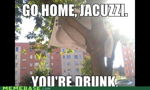 youre-drunk,jacuzzi,go home,tree