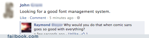 The only font you need