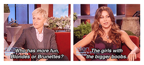 true facts,ellen,blondes,brunettes,sofia vergara,categoryvoting-page,categoryimage