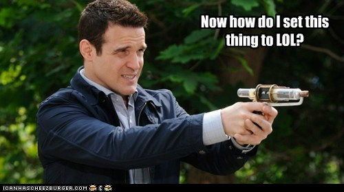 set phasers to lol pete latimer phaser warehouse 13 eddie mcclintock confused how do i - 6640980480