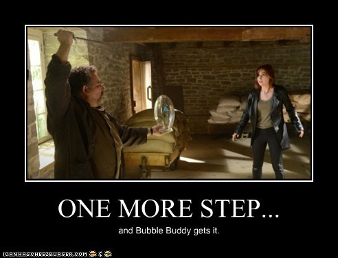artie nielsen,saul rubinek,knife,claudia donovan,allison scagliotti,warehouse 13,one more step,bubble,threat