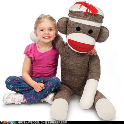 toy Plush kid giant sock monkey - 6641293568
