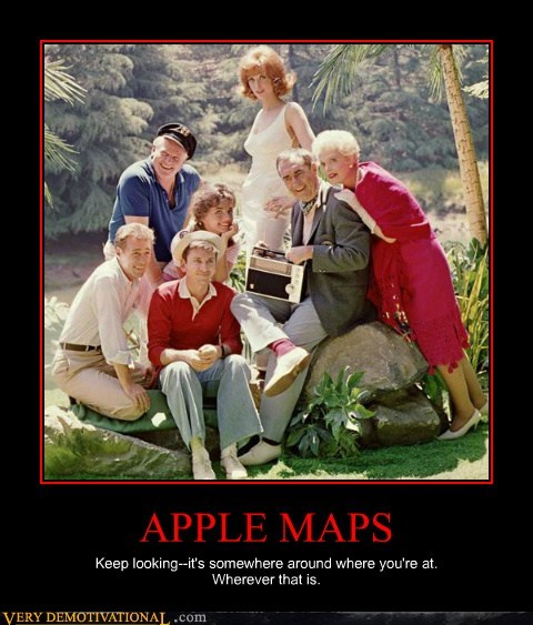 apple Maps lost gilligans-island