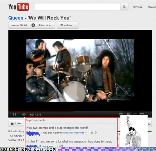 queen we will rock you Music youtube