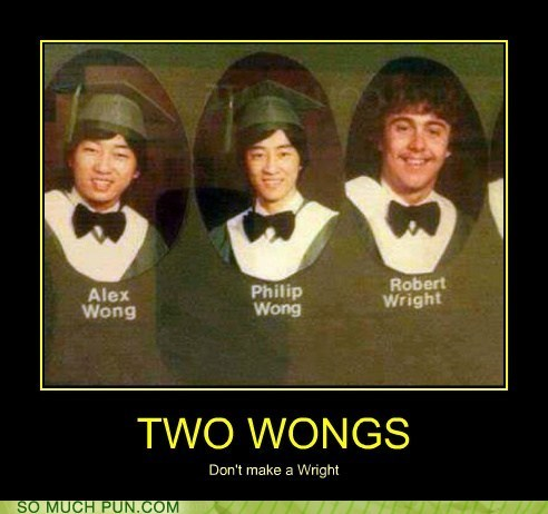 wong wright surnames wrong right similar sounding adage cliché not even really a pun but oh well - 6642517504