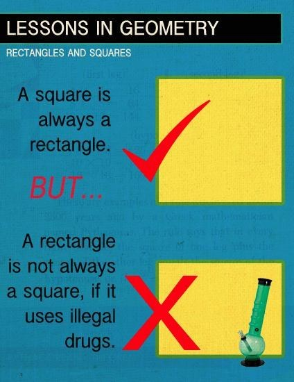 dont-do-drugs geometry Square rectangle - 6642552064