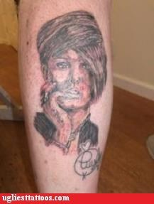 leg tattoos,portrait tattoos,celeb