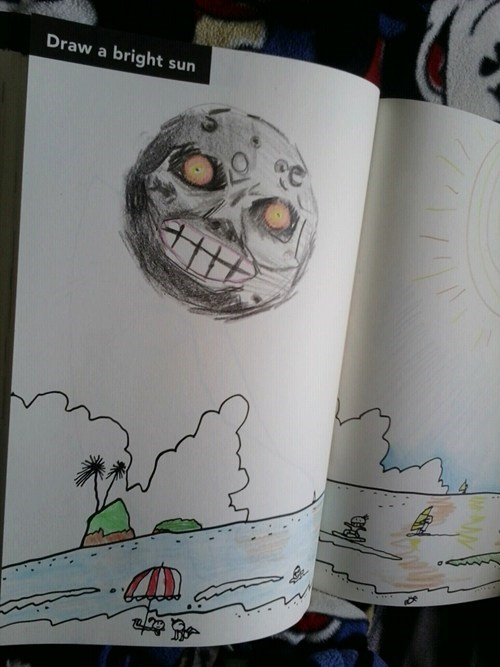 majoras mask drawing IRL zelda - 6642863616