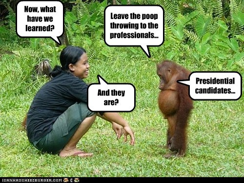 learned kid teaching candidates throwing poop orangutan professionals presidential - 6642982144