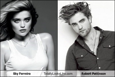 funny TLL sky ferreira model actor celeb robert pattinson