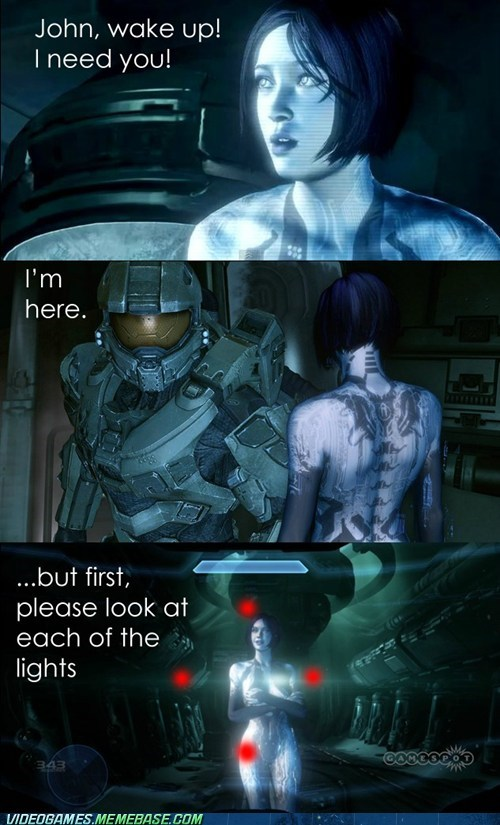 Halo 4 cortana master chief - 6643119104