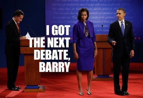 Mitt Romney Michelle Obama barack obama debate barry angry anniversary president argument next - 6643120640
