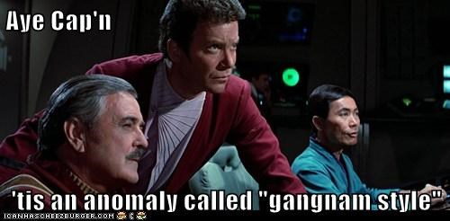james doohan,William Shatner,Shatnerday,Captain Kirk,scotty,george takei,sulu,anomaly,gangnam style,Star Trek