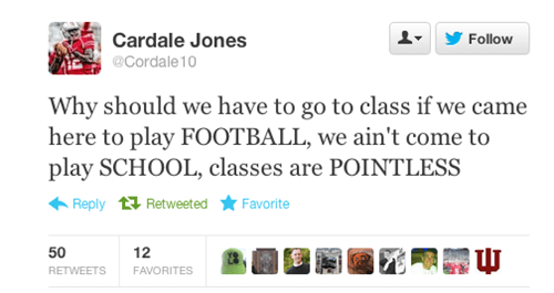 school,twitter,tweet,ohio state,cardale jones,cardale jones school tweet