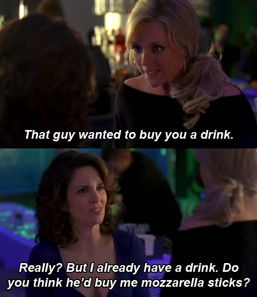 party time,liz lemon,jenna maroney,bars,mozzarella sticks,categoryimage,categoryvoting-page