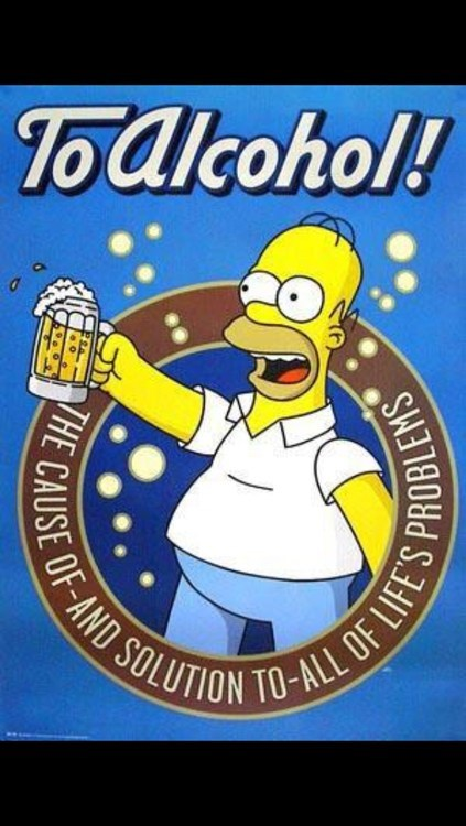 the simpsons,to alcohol,lifes-problems,homer