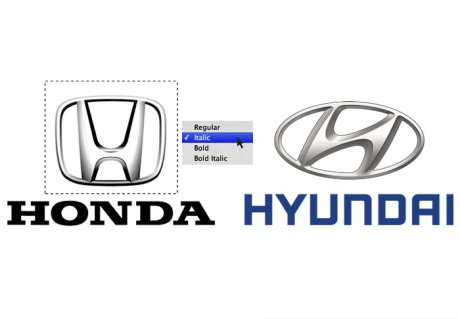 honda hyundai italic font how its made - 6643295488