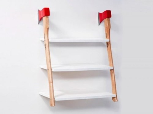 shelves,axe,decor,home,wall,cool