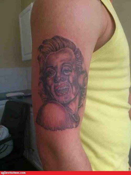 marilyn monroe arm tattoos - 6643490560