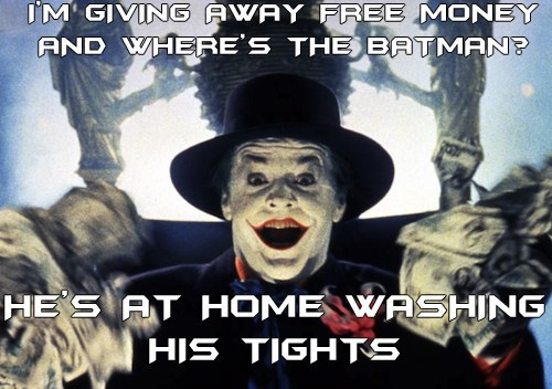 joker money batman bad deal - 6643604480