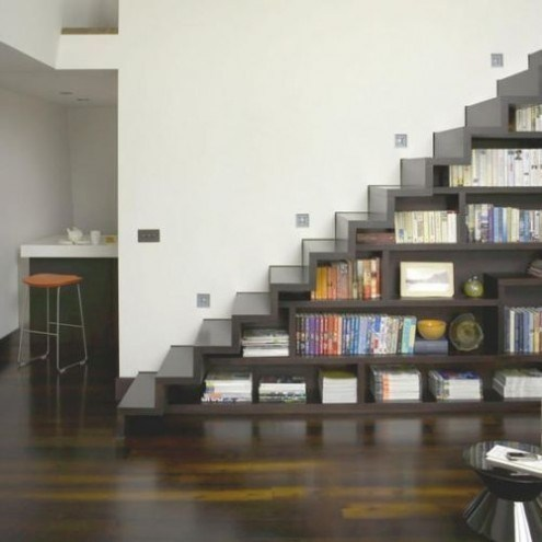 design bookshelf stairs home - 6643674368