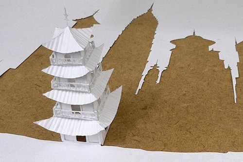 design paper cutout origami art