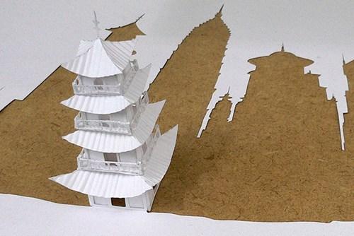 design paper cutout origami art - 6643846144