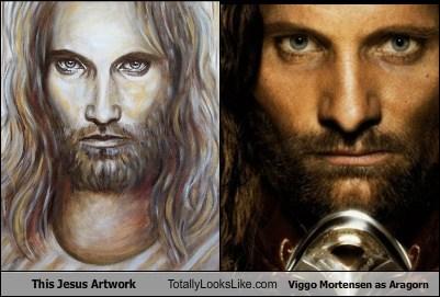 funny,TLL,art,jesus,actor,celeb,viggo mortensen