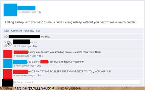 sleeping,facebook,relationships