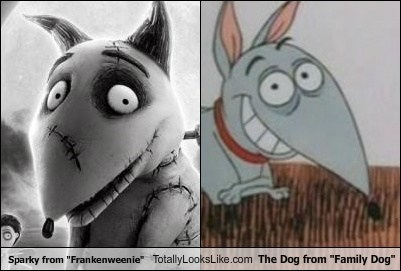Sparky From Frankenweenie Totally Looks Like The Dog From Family Dog Totally Looks Like
