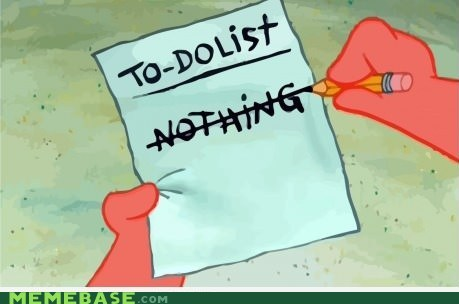 SpongeBob SquarePants,to-do list,patrick,weekend