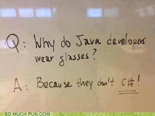 c#,c,programming,nerd humor,question,answer,homophone,see,double meaning,literalism,categoryimage