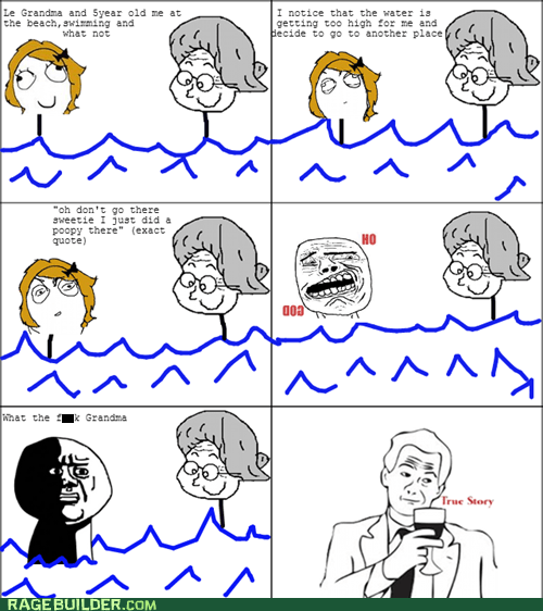 poop grandama swimming true story oh god why - 6645739264