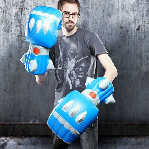 robot fists inflatable toys ThinkGeek - 6645923584