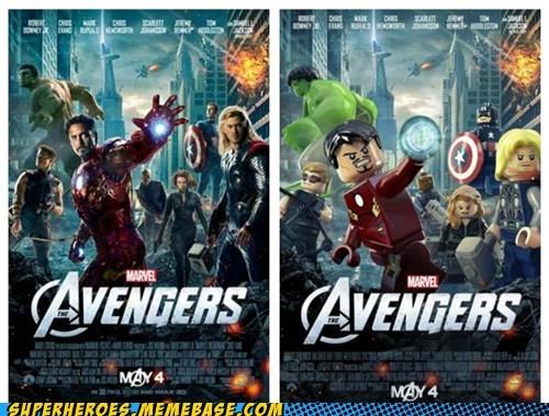 avengers lego awesome Movie poster Random Heroics