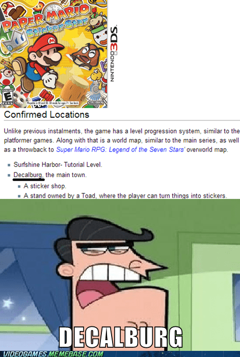 paper mario so excite 3DS dinkleberg meme categoryvoting-page - 6646217472