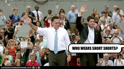 who-wears-short-shorts raising hand song Mitt Romney paul ryan - 6646969856