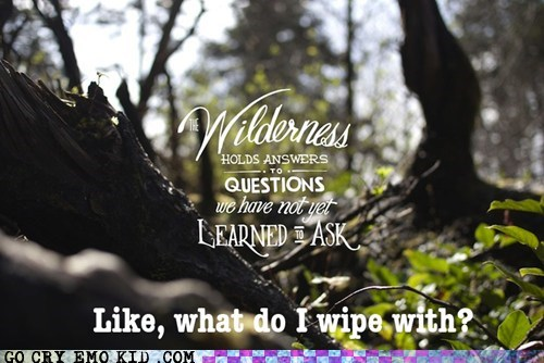 wilderness questions wiping hipsters