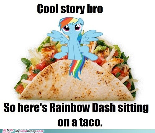 cool story,rainbow dash,taco,yum,this is not creepy,taco masher