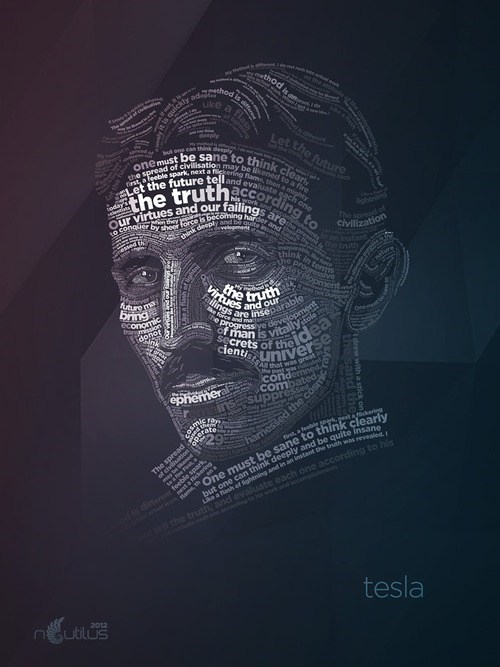 art truth word Nikola Tesla - 6647397888